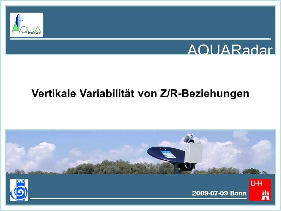 Statistik Oktober 2008 Ombrometer < 36.5 dBZ 36.5…44 dBZ > 44 dBZ MRR - DSD MRR - Mode 2009-07-09 Bonn AQUARadar