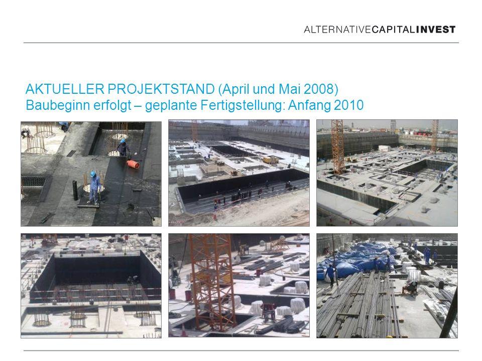 AKTUELLER PROJEKTSTAND (April und Mai 2008) Baubeginn erfolgt – geplante Fertigstellung: Anfang 2010