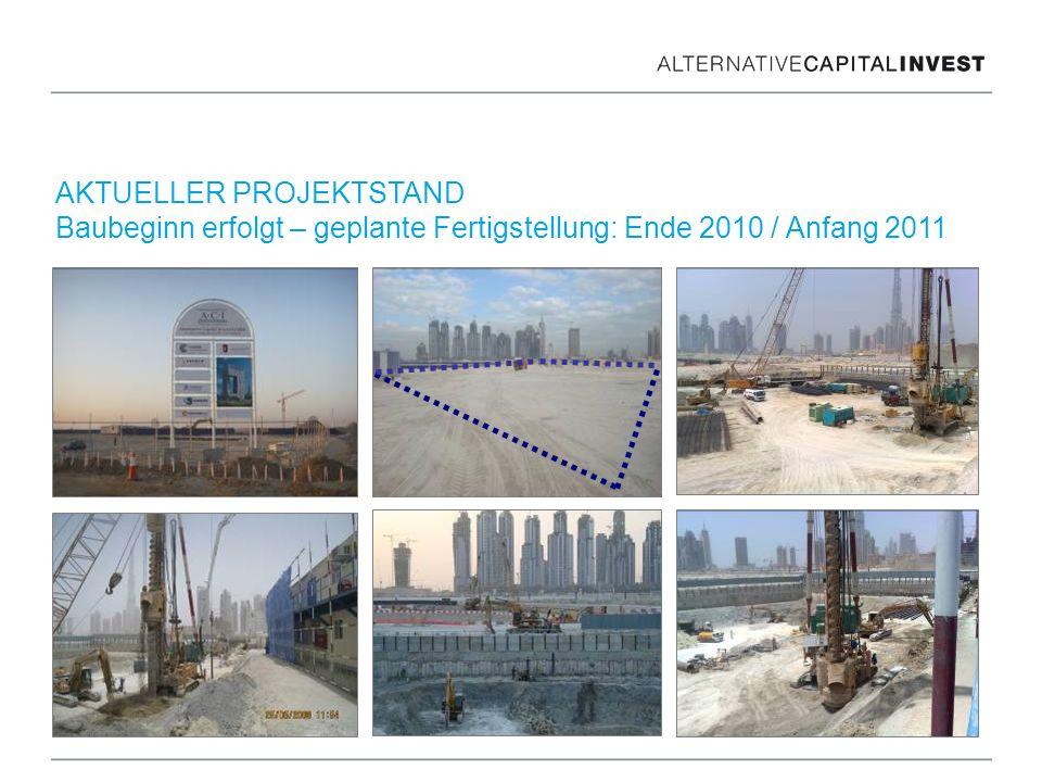 AKTUELLER PROJEKTSTAND Baubeginn erfolgt – geplante Fertigstellung: Ende 2010 / Anfang 2011