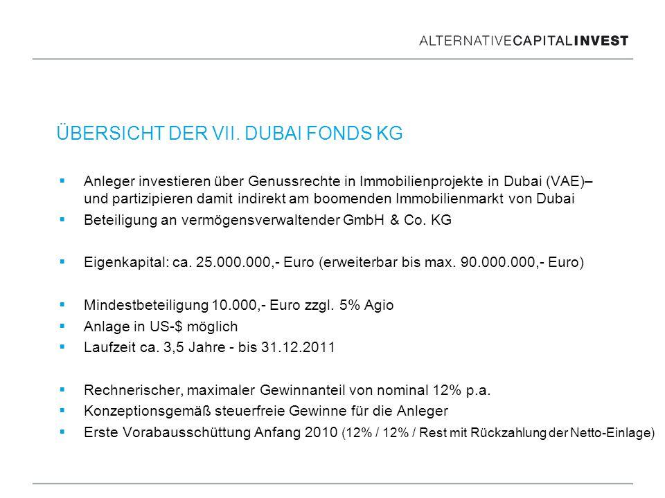 Anleger investieren über Genussrechte in Immobilienprojekte in Dubai (VAE)– und partizipieren damit indirekt am boomenden Immobilienmarkt von Dubai Be