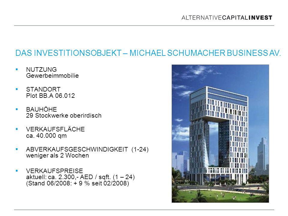 NUTZUNG Gewerbeimmobilie STANDORT Plot BB.A 06.012 BAUHÖHE 29 Stockwerke oberirdisch VERKAUFSFLÄCHE ca. 40.000 qm ABVERKAUFSGESCHWINDIGKEIT (1-24) wen