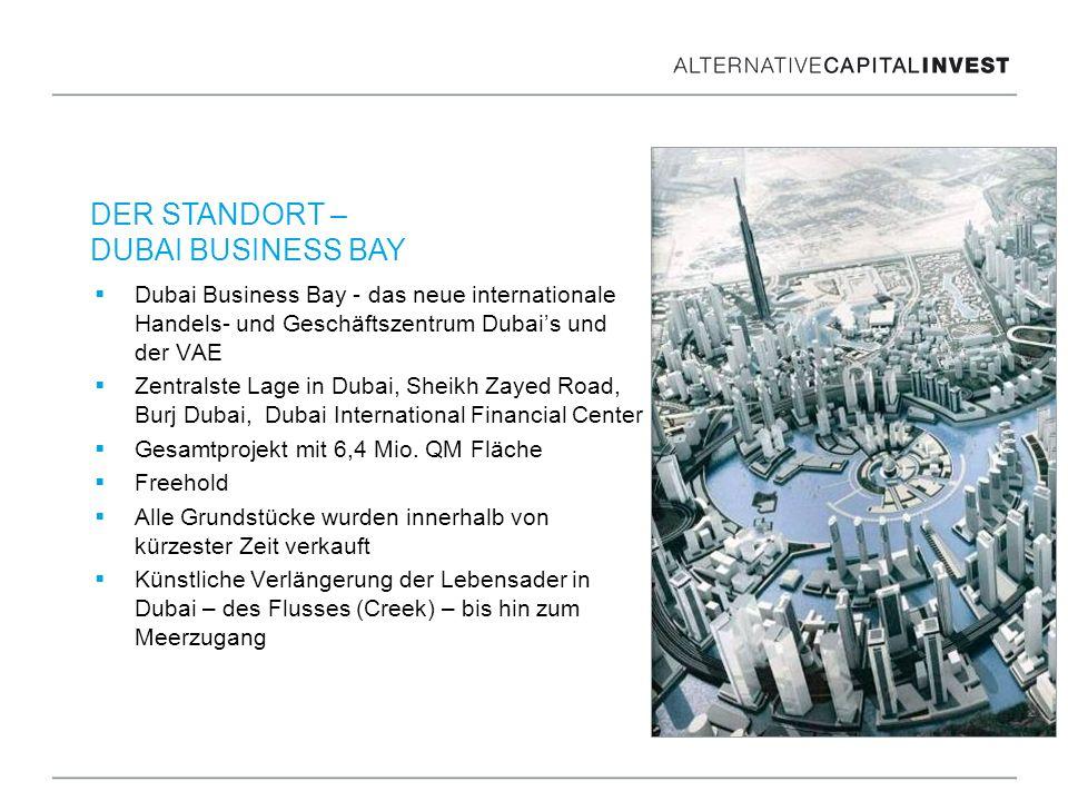 Dubai Business Bay - das neue internationale Handels- und Geschäftszentrum Dubais und der VAE Zentralste Lage in Dubai, Sheikh Zayed Road, Burj Dubai,