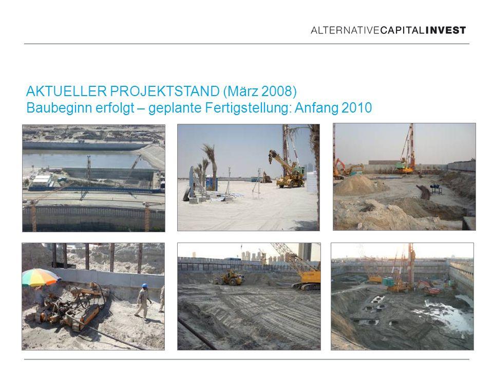 AKTUELLER PROJEKTSTAND (März 2008) Baubeginn erfolgt – geplante Fertigstellung: Anfang 2010