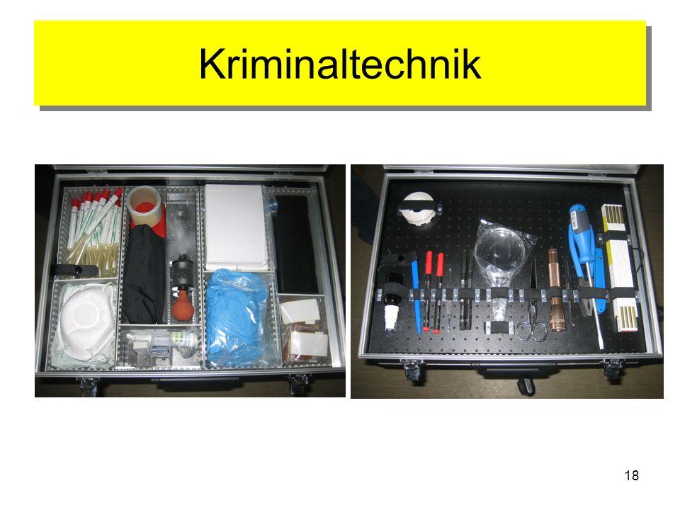 18 Kriminaltechnik