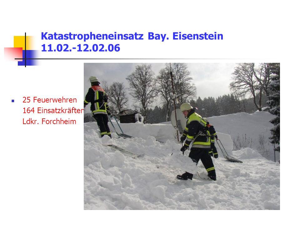 Katastropheneinsatz Bay.Eisenstein 11.02.-12.02.06 25 Feuerwehren 164 Einsatzkräften Ldkr.