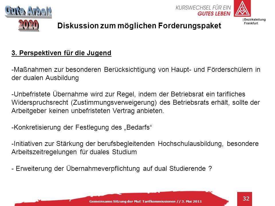 IG Metall Bezirksleitung Baden-Württemberg 32 Gemeinsame Sitzung der MuE Tarifkommissionen // 3.