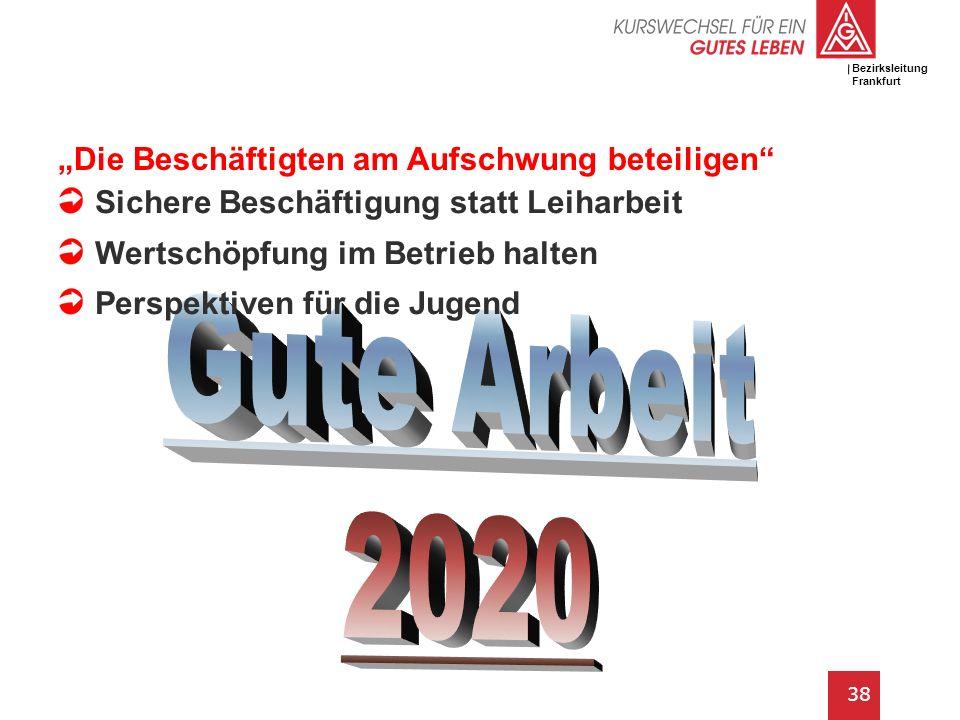 IG Metall Bezirksleitung Baden-Württemberg 38 Gemeinsame Sitzung der MuE Tarifkommissionen // 3. Mai 2011 Bezirksleitung Frankfurt Die Beschäftigten a