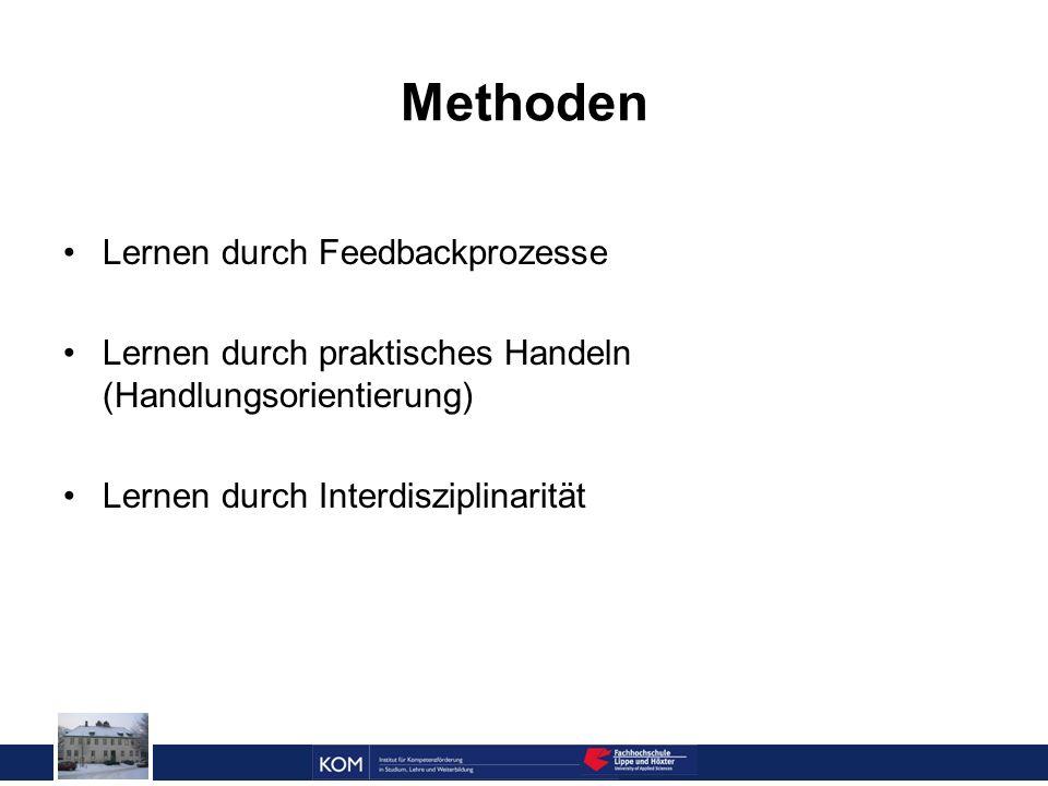 Prof. Dr. Reinhard Doleschal Methoden Lernen durch Feedbackprozesse Lernen durch praktisches Handeln (Handlungsorientierung) Lernen durch Interdiszipl