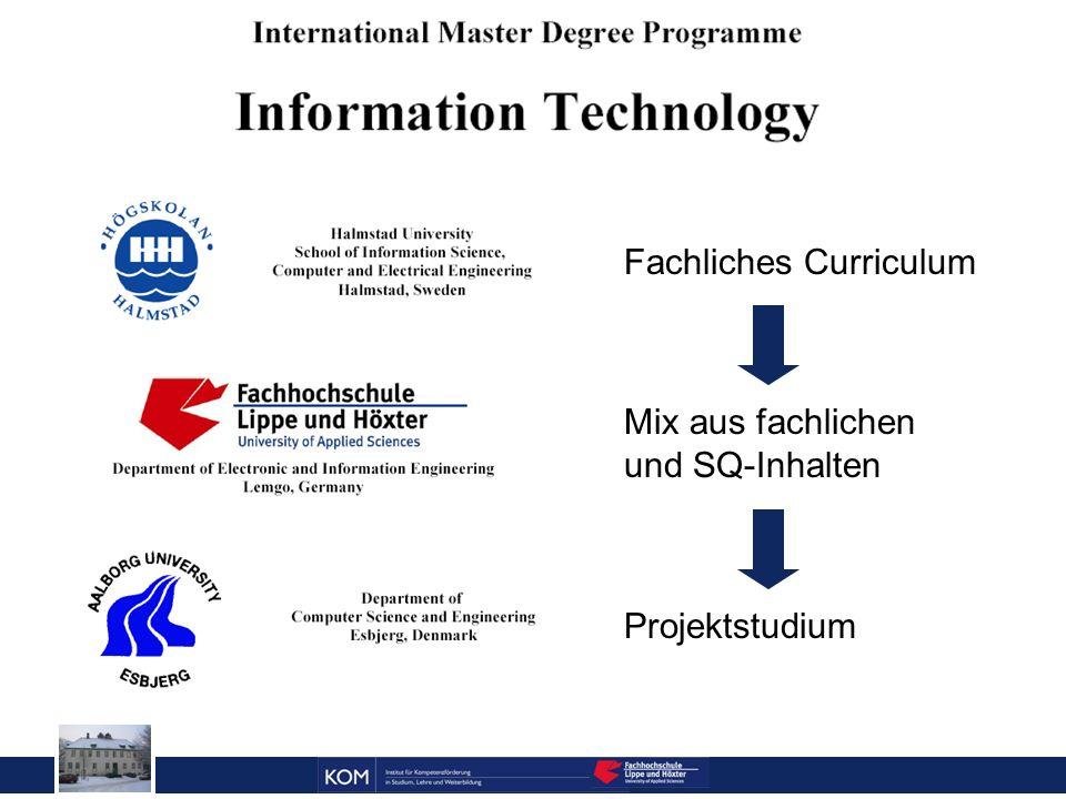 Prof. Dr. Reinhard Doleschal Fachliches Curriculum Mix aus fachlichen und SQ-Inhalten Projektstudium