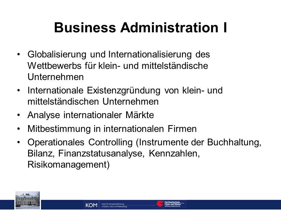 Prof. Dr. Reinhard Doleschal Business Administration I Globalisierung und Internationalisierung des Wettbewerbs für klein- und mittelständische Untern