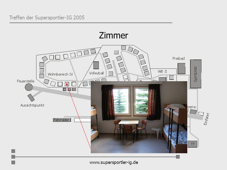 Treffen der Supersportler-IG 2005 www.supersportler-ig.de Zimmer