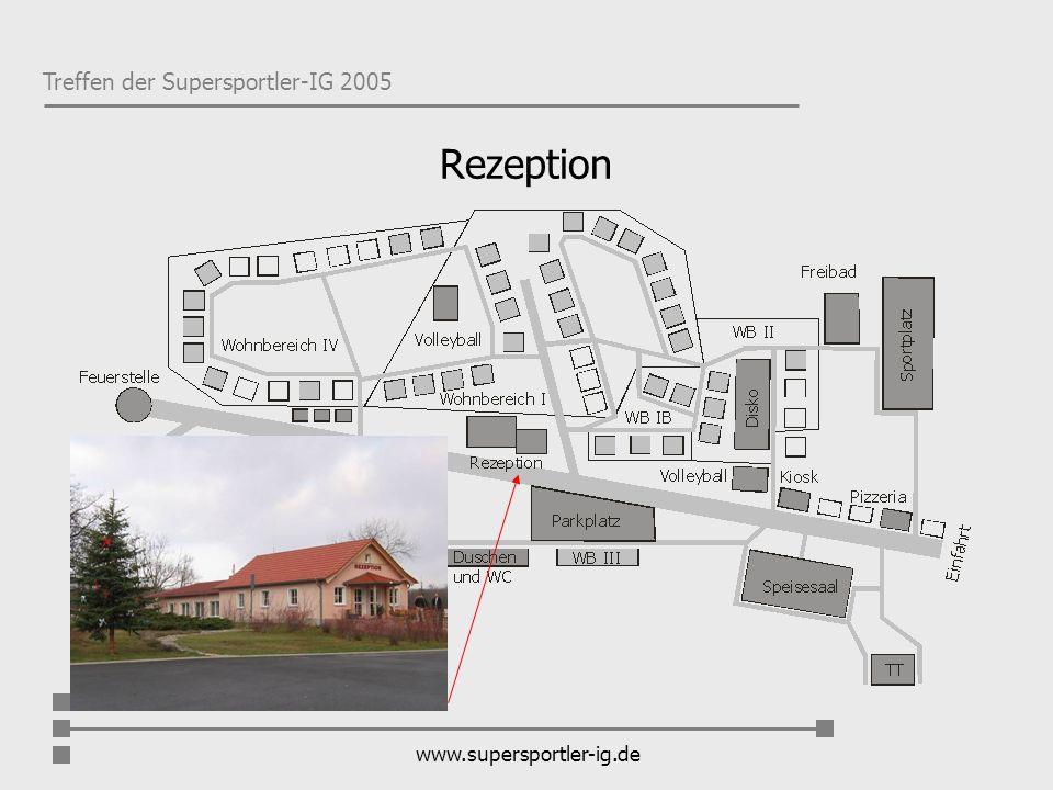 Treffen der Supersportler-IG 2005 www.supersportler-ig.de Rezeption