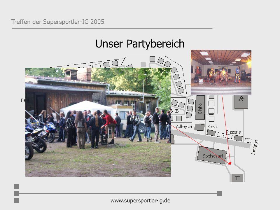 Treffen der Supersportler-IG 2005 www.supersportler-ig.de Wohnbereich
