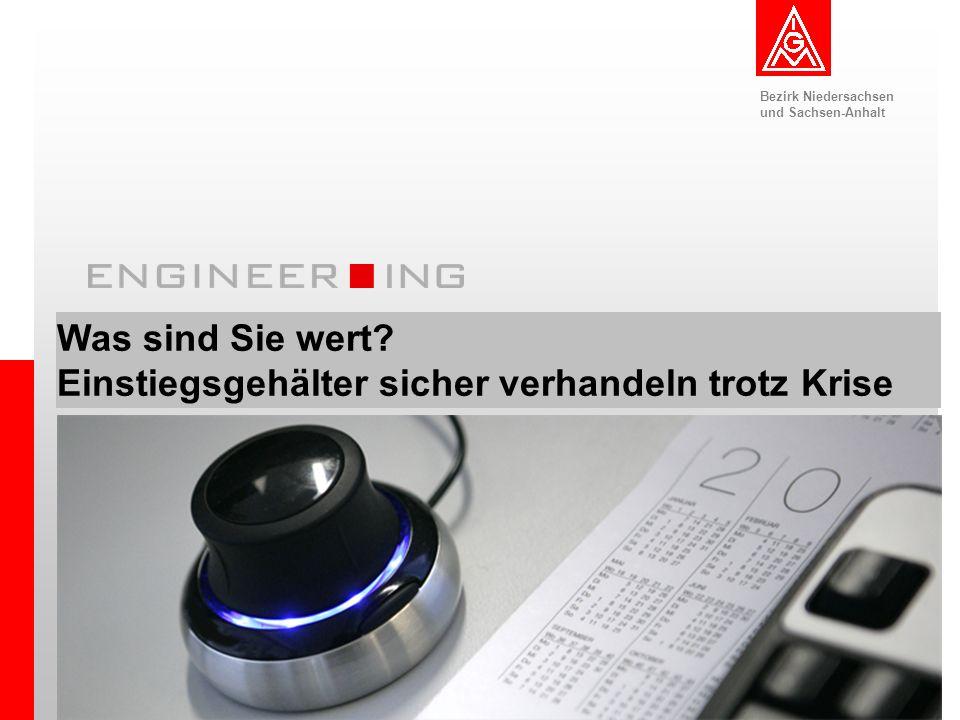 Bezirk Niedersachsen und Sachsen-Anhalt 1CeBIT 03. – 08. März 2009 Was sind Sie wert? Einstiegsgehälter sicher verhandeln trotz Krise Bezirk Niedersac