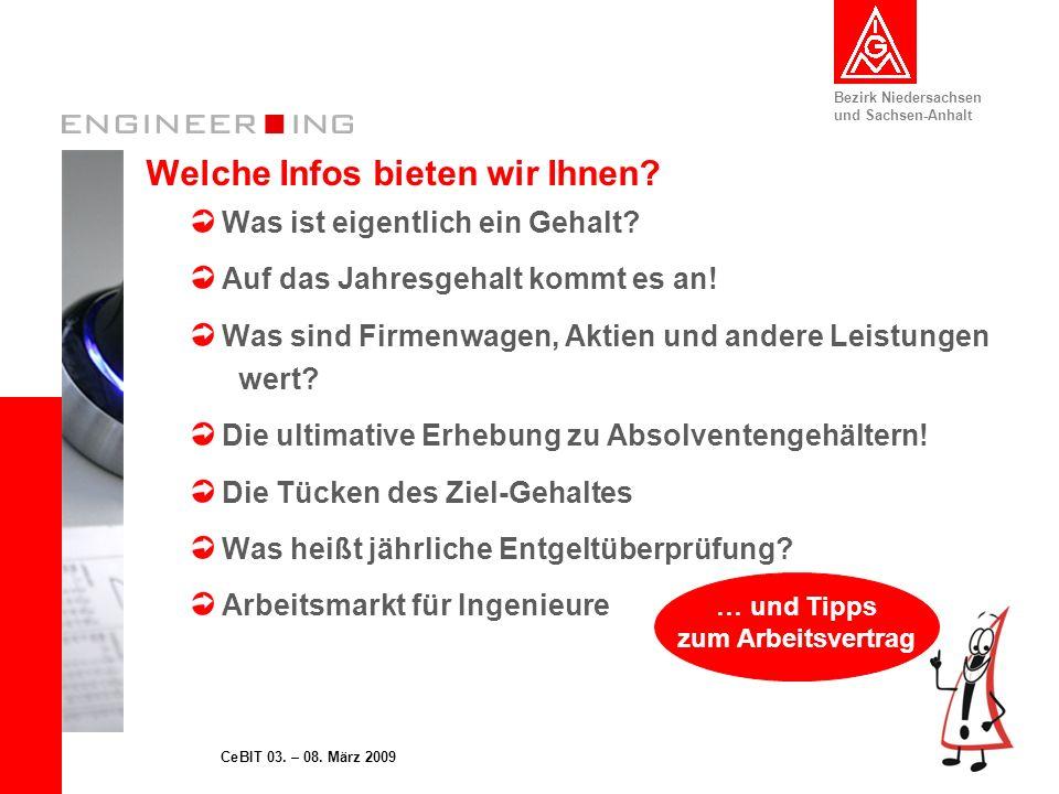 Bezirk Niedersachsen und Sachsen-Anhalt 13CeBIT 03.