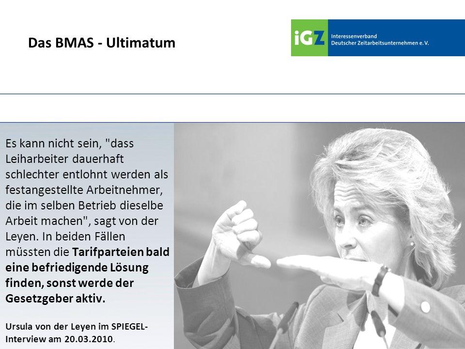 Das BMAS - Ultimatum Es kann nicht sein,