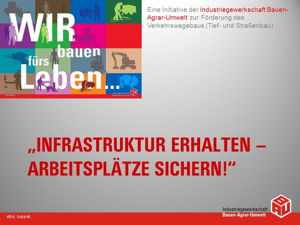 VB II, Schä-Ki Eine Initiative der Industriegewerkschaft Bauen- Agrar-Umwelt zur Förderung des Verkehrswegebaus (Tief- und Straßenbau)