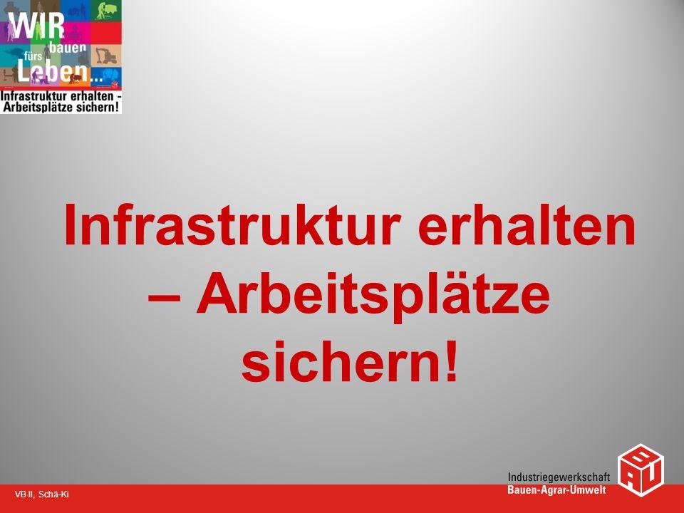 VB II, Schä-Ki Infrastruktur erhalten – Arbeitsplätze sichern!