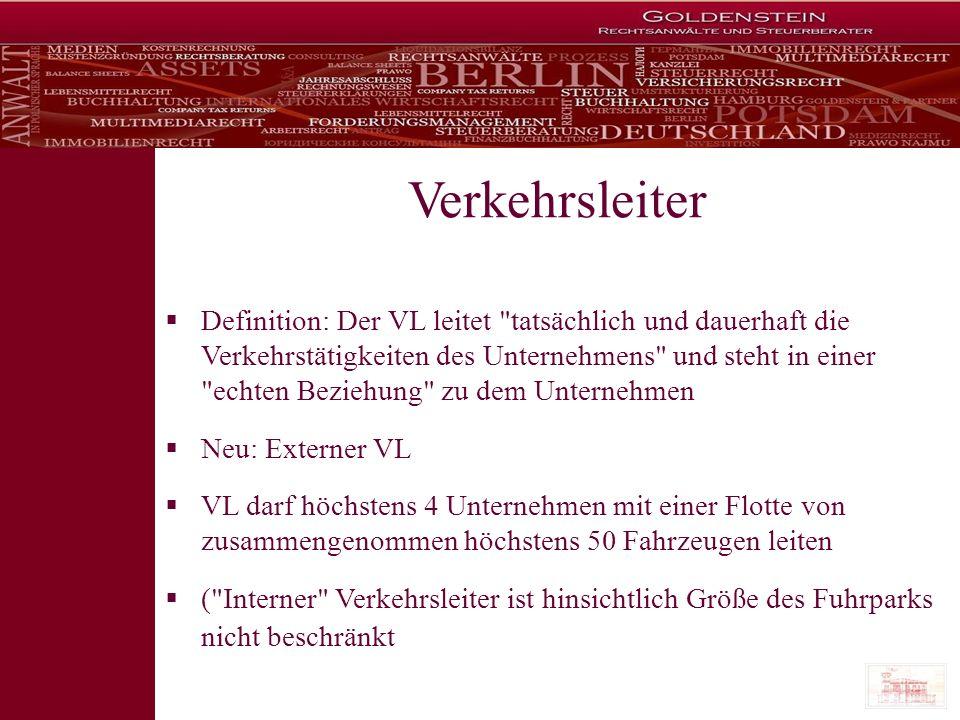 Die sieben Todsünden (Anhang IV der VO (EG) Nr.