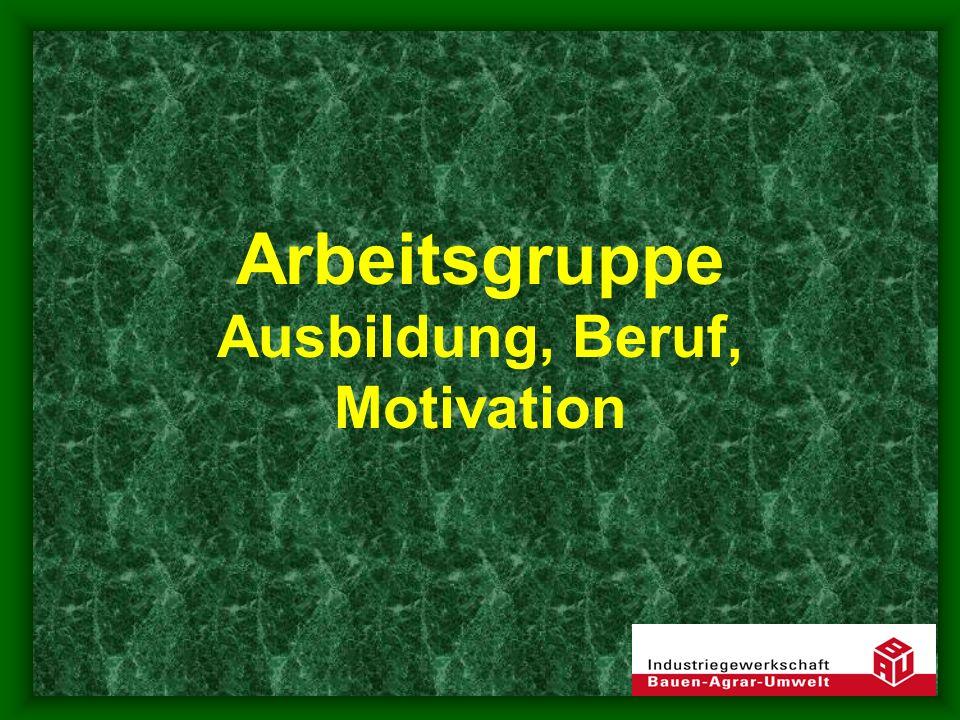 Arbeitsgruppe Ausbildung, Beruf, Motivation