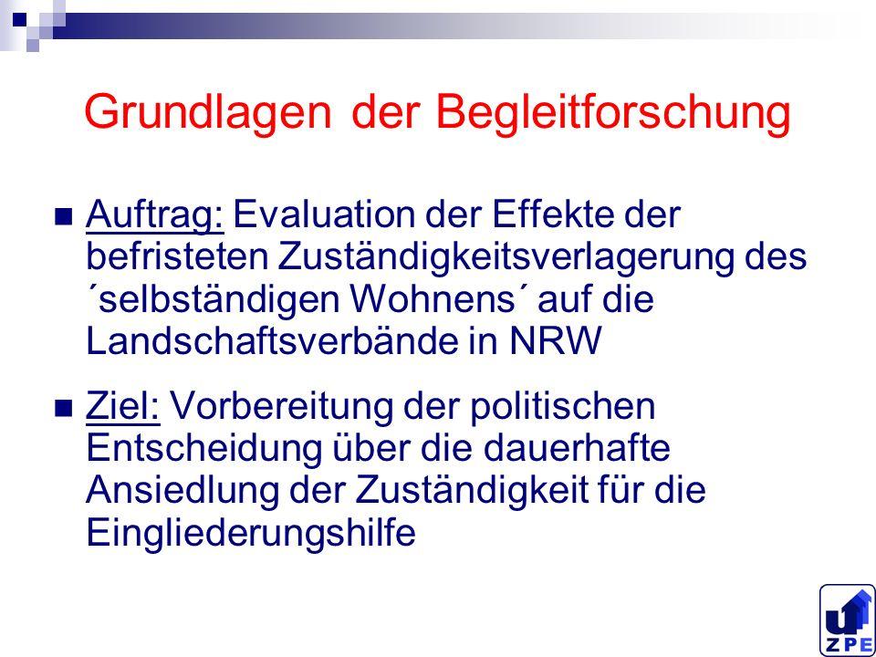 Anlage der Begleitforschung Selbstverständnis als formative Evaluation Kooperationsangebot an alle beteiligten Akteure Ergebnisoffene Evaluation zur fachlichen Vorbereitung einer politischen Entscheidung.