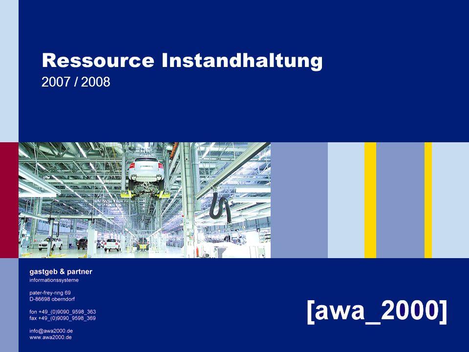 Ressource Instandhaltung 2007 / 2008
