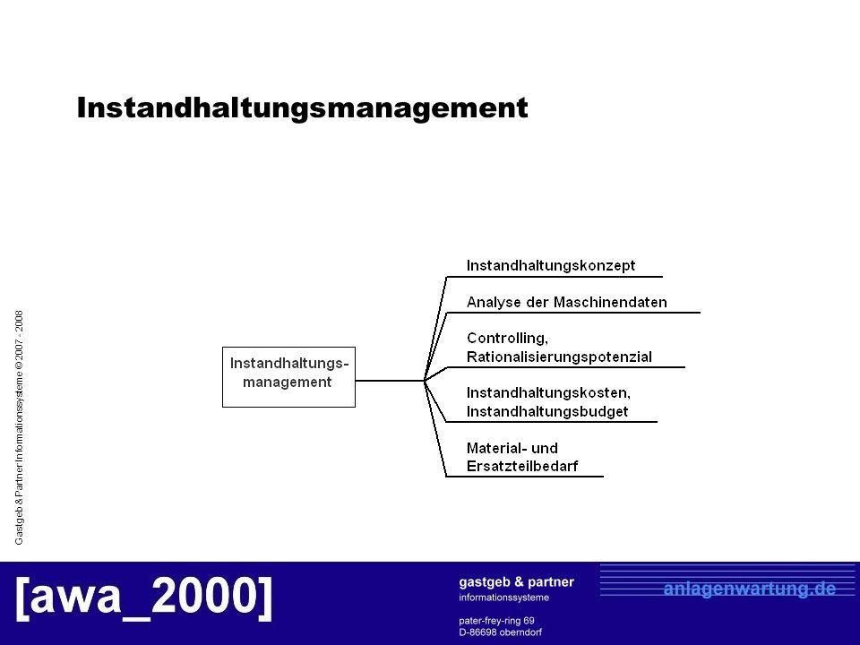Gastgeb & Partner Informationssysteme © 2007 - 2008 Instandhaltungskonzept