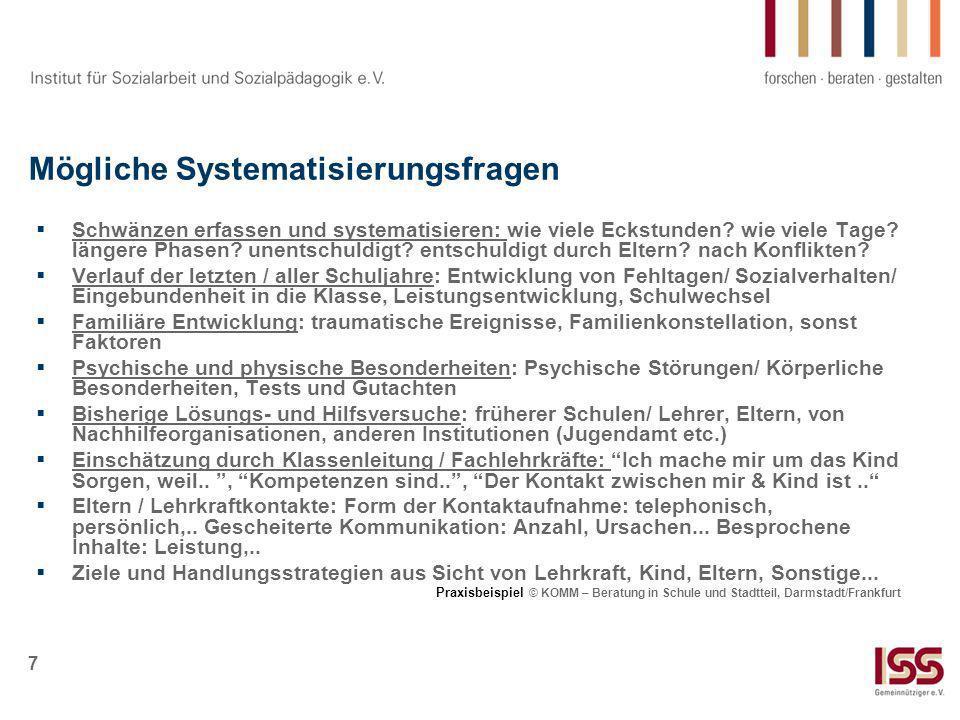 8 Veränderung von Schule und Unterricht Gestaltung Übergang Grundschule / weiterf.