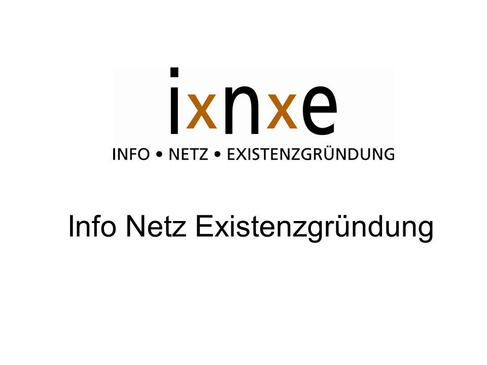Ziele von IxNxE: Netzwerk der Berater Leichtere Orientierung für Gründer Angebote für Gründer wie z.B.