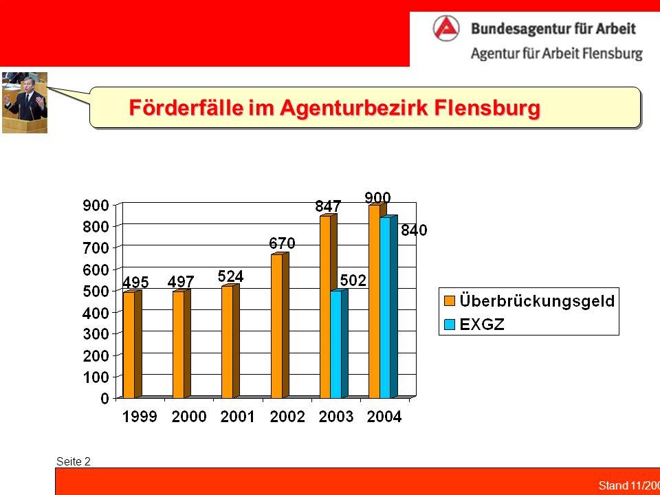 Stand 11/2004 Seite 2 Förderfälle im Agenturbezirk Flensburg