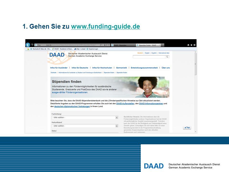 1. Gehen Sie zu www.funding-guide.dewww.funding-guide.de