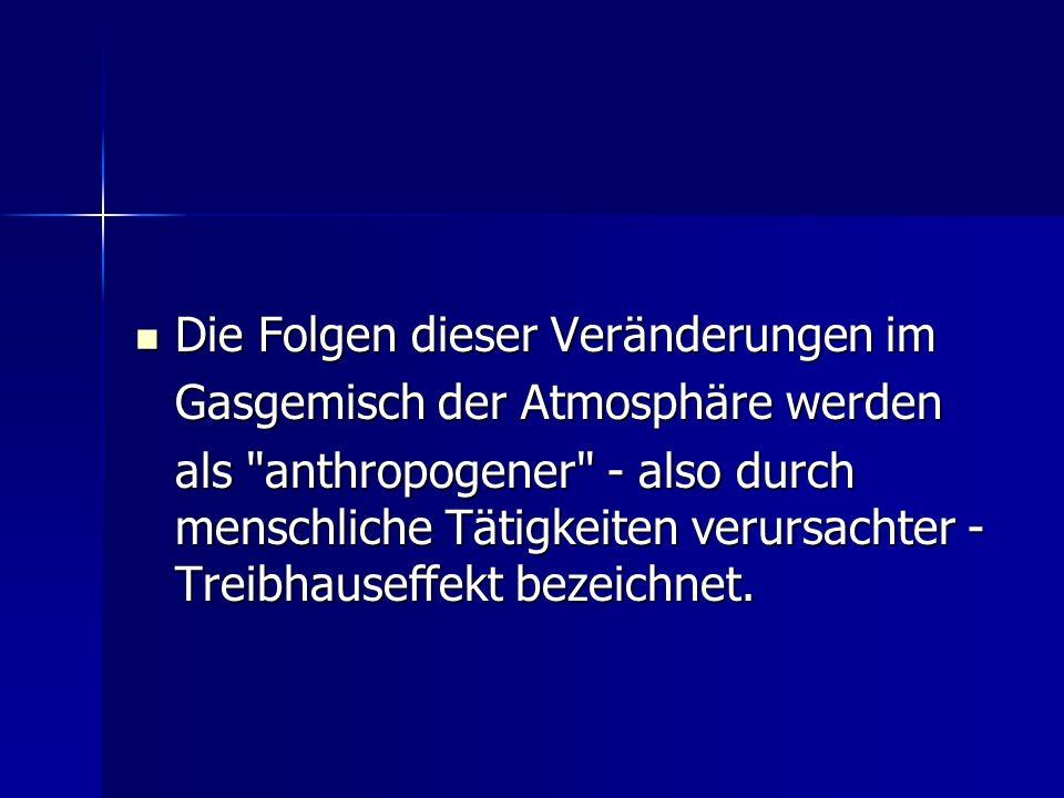 Natürlicher versus vom Menschen verursachter (anthropogener) Treibhauseffekt Zunächst passiert kurzwellige Sonnenenergie die Atmosphäre, wird durch die Erdoberfläche absorbiert und erwärmt diese.