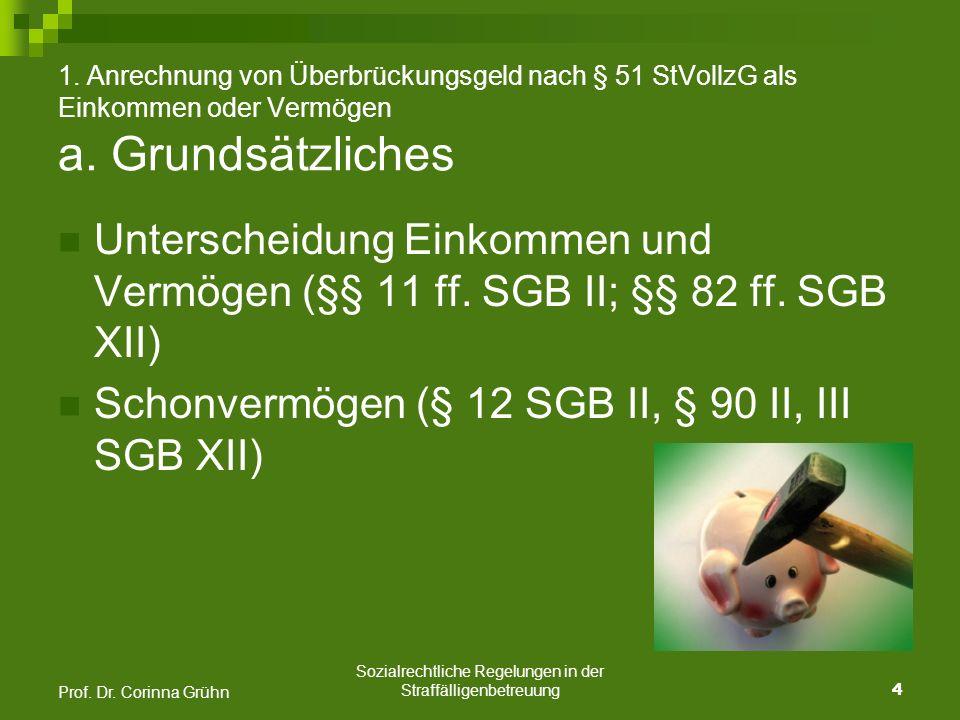 Sozialrechtliche Regelungen in der Straffälligenbetreuung 5 Prof.