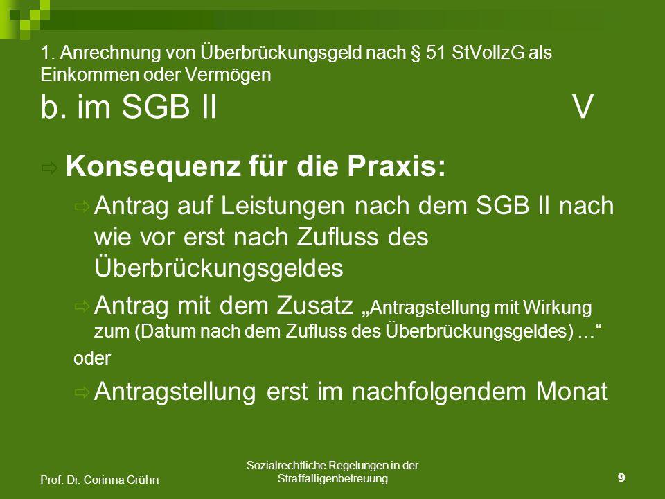 Sozialrechtliche Regelungen in der Straffälligenbetreuung 10 Prof.