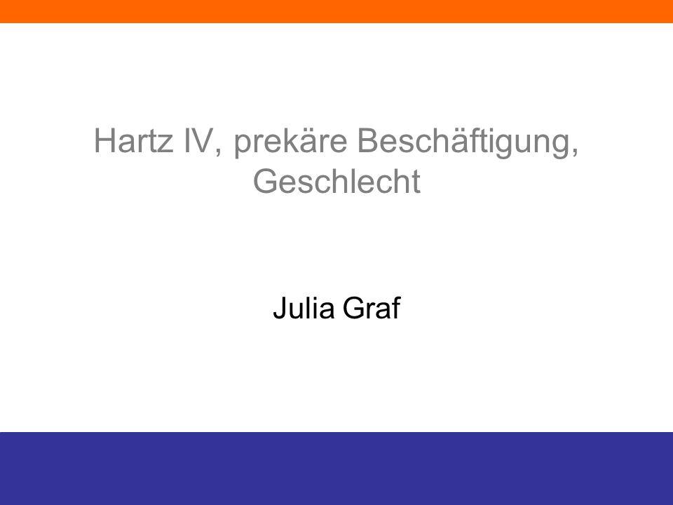 Hartz IV, prekäre Beschäftigung, Geschlecht Julia Graf