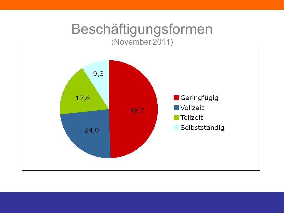 Beschäftigungsformen (November 2011)