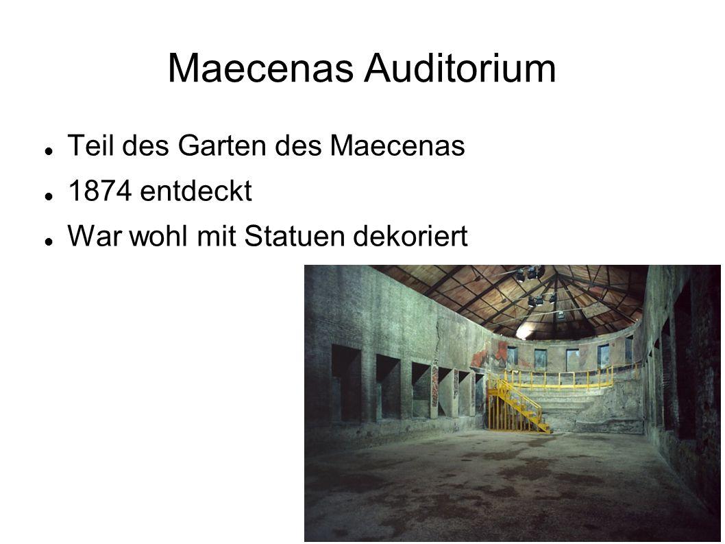Maecenas Auditorium Teil des Garten des Maecenas 1874 entdeckt War wohl mit Statuen dekoriert