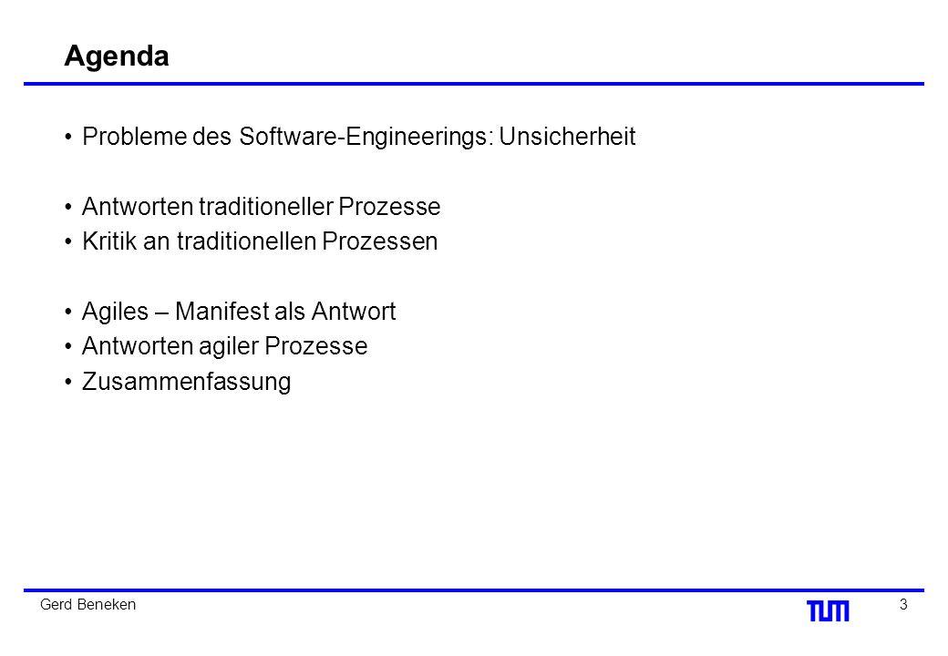 13Gerd Beneken Beispiel: SCRUM Grafik aus Seminararbeit von Raffael Schweizer, Uni Zürich