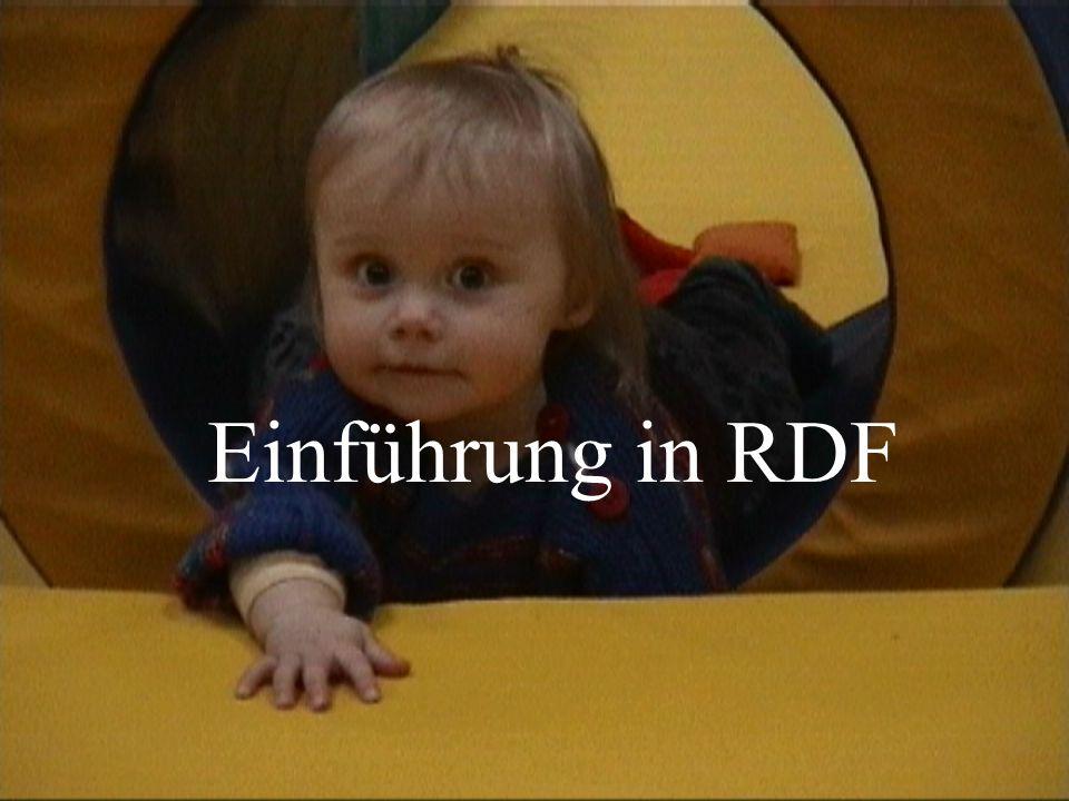 Einführung in RDF – von Karsten TolleDBIS 2 Übersicht RDF was ist das.