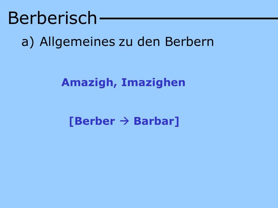 Die Berber Algeriens