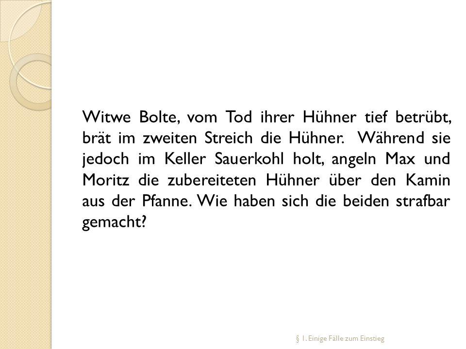 Witwe Bolte, vom Tod ihrer Hühner tief betrübt, brät im zweiten Streich die Hühner. Während sie jedoch im Keller Sauerkohl holt, angeln Max und Moritz