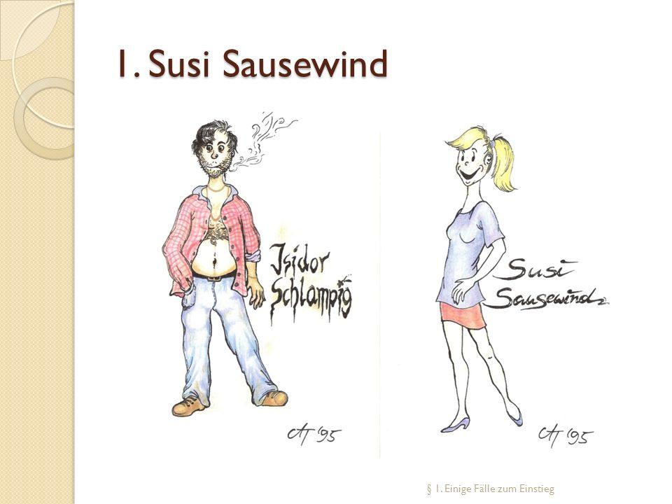 Fall 1: Susi Sausewind Sie sind Anwalt/Anwältin.