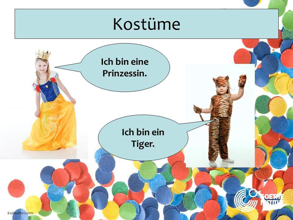Kostüme Ich bin eine Prinzessin. Ich bin ein Tiger. ©colourbox.com