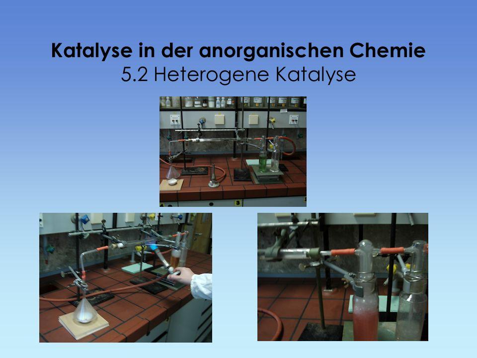 Katalyse in der anorganischen Chemie 5.2 Heterogene Katalyse