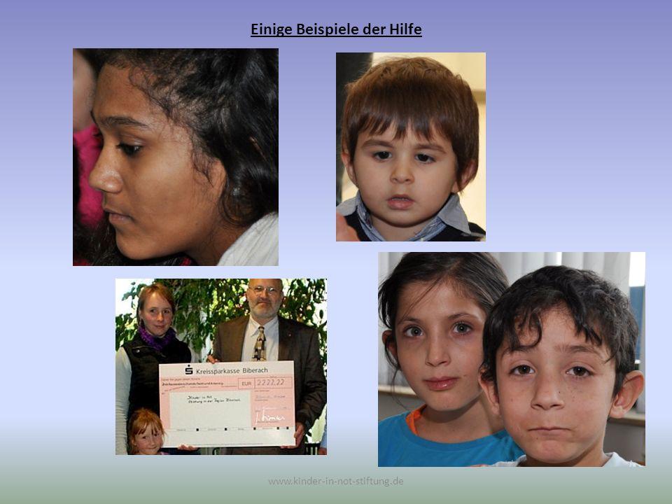 Einige Beispiele der Hilfe www.kinder-in-not-stiftung.de Für eine kurz vor der Entbindung stehenden Asylbewerberin konnte eine neue, den Umständen passende, Unterkunft vermittelt werden.