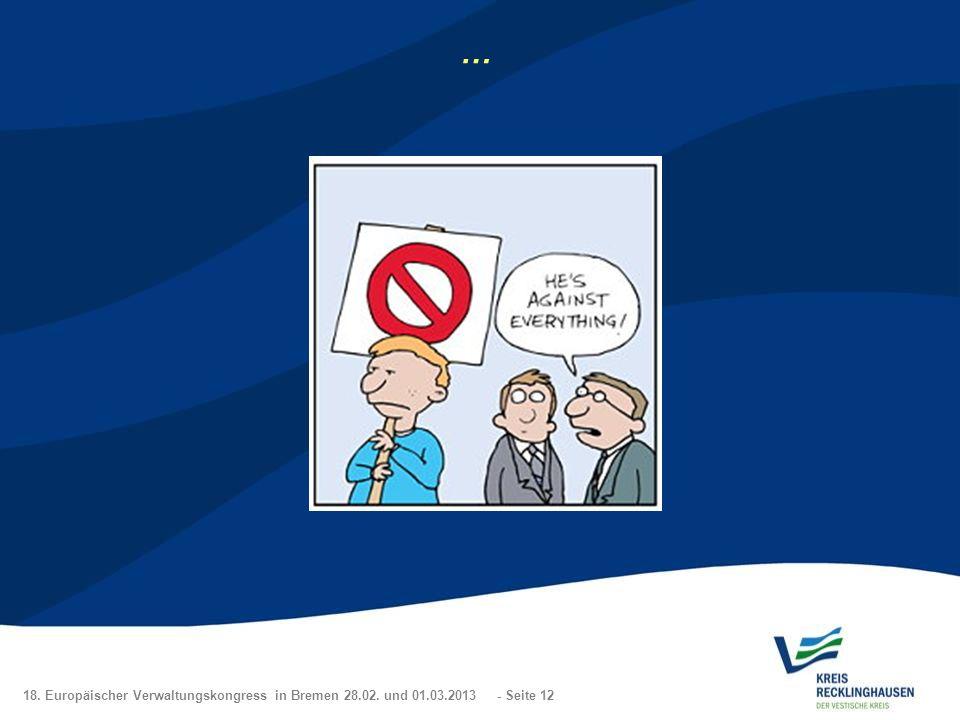 18. Europäischer Verwaltungskongress in Bremen 28.02. und 01.03.2013 - Seite 12 …