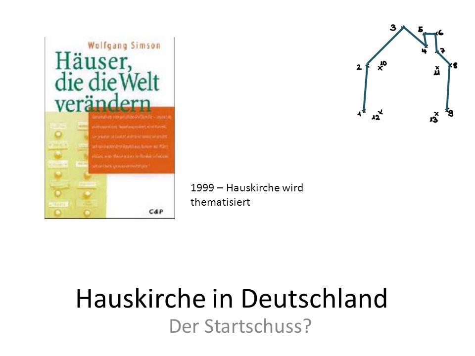 Hauskirche in Deutschland Der Startschuss? 1999 – Hauskirche wird thematisiert
