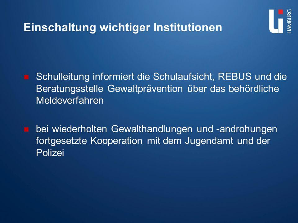 Pädagogische und Ordnungsmaßnahmen Dokumentation des Vorfalls bzw.