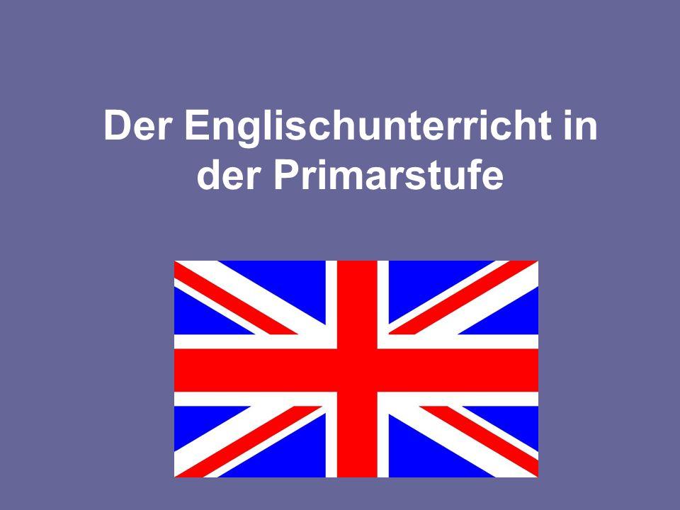 Der Englischunterricht in der Primarstufe Bild Flagge!