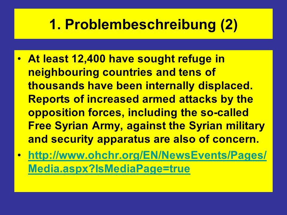 3.1 Aktionen der Arabischen Liga Friedensplan 2.